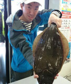 【お客様釣り情報!】 岩内漁港 ヒラメ58cm!!