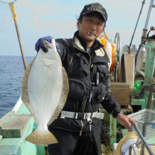 小樽沖ヒラメ好釣!
